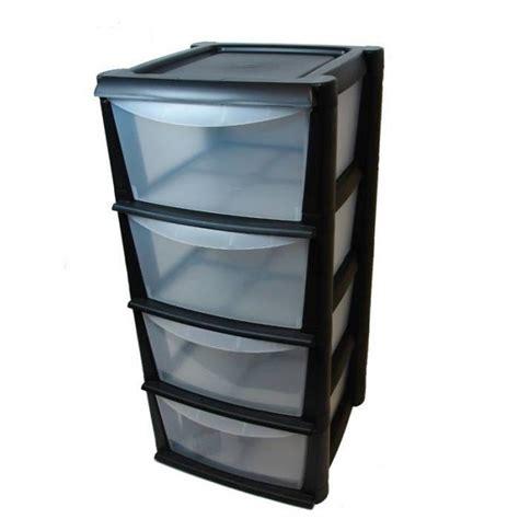 unit 233 de rangement en plastique avec 4 tiroirs profonds