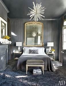 Gray Bedroom - Eclectic - bedroom - Architectural Digest