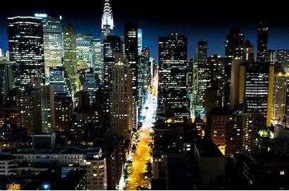 Night York Lights Gifs Giphy Destruction Manhattan
