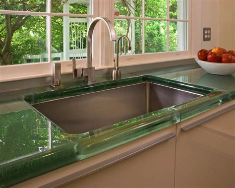 Glas Arbeitsplatte Küche by Eleganten K 252 Che Arbeitsplatten Ideen Mit Gr 252 Ner Farbe