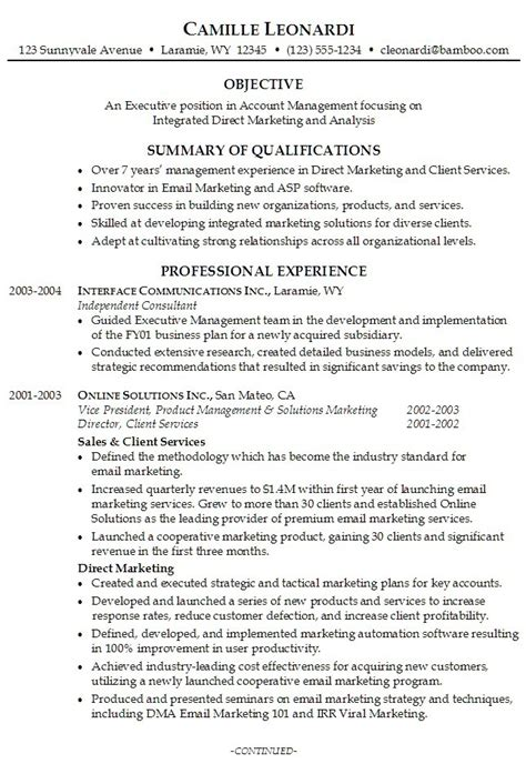 new career summary exles for resume professional