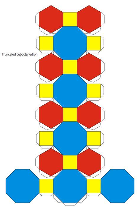 truncated cuboctahedron template truncated cuboctahedron origami pinterest