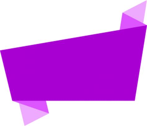 4 Simple Origami Banners Vector (EPS, SVG, PNG Transparent ...