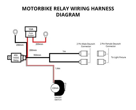Motorbike Relay Wiring Harness For Lights