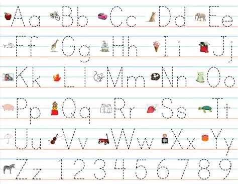 Alphabet Writing Practice Worksheets  Kindergarten Letter Writing Practice Sheets 1000 Ideas