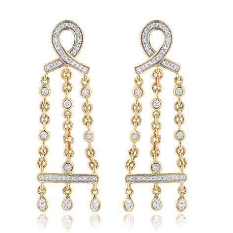 14k Gold Chandelier Earrings by 14k Gold Chandelier Earrings 0 36ct
