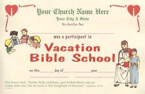 vacationbibleschool With free vbs certificate templates