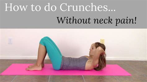 How To Do Crunches Without Neck Pain!  Crunches For