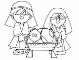 Coloring Nativity Pages Printable sketch template