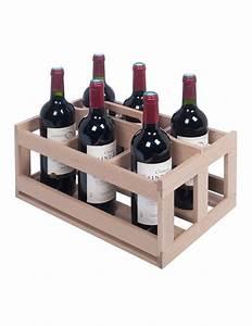Casier À Bouteilles En Bois : casier 6 bouteilles en bois pour cave vin prestige la sommeli re ~ Dode.kayakingforconservation.com Idées de Décoration