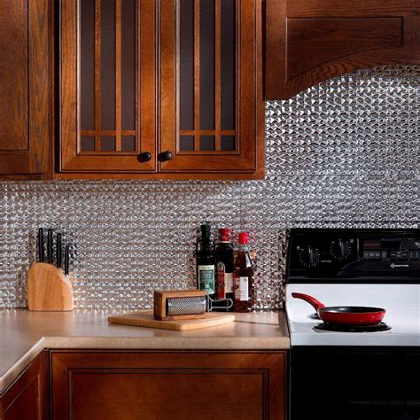 Fasade 24 In X 18 In Ripple Pvc Decorative Tile