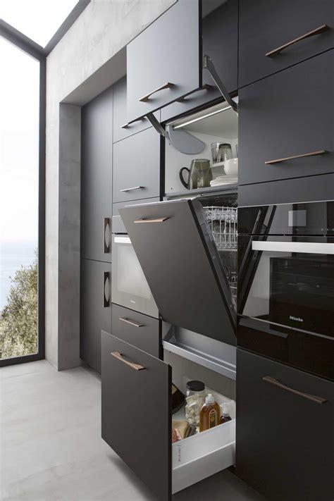cuisine b600h placage palissandre v200 verni noir mat perene lyon