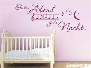 Wandtattoo Baby Mädchen : kinderlied wandtattoo guten abend von ~ Markanthonyermac.com Haus und Dekorationen