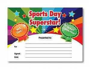 Sports day superstar certificates 20 identical a5 for Sports day certificate template