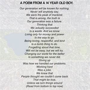 14 Year Old39s Poem Will Rock You Whether You Read It