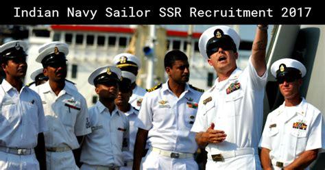 Indian Navy Sailor Ssr Recruitment 2019