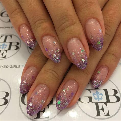 kurze nägel design glitter nails nagelkunst design