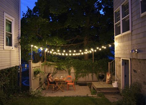 how to string lights outside outdoor string lights small backyard ideas 9 ideas to