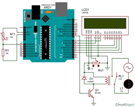 Circuit Diagram Control Relay Using Arduino Based