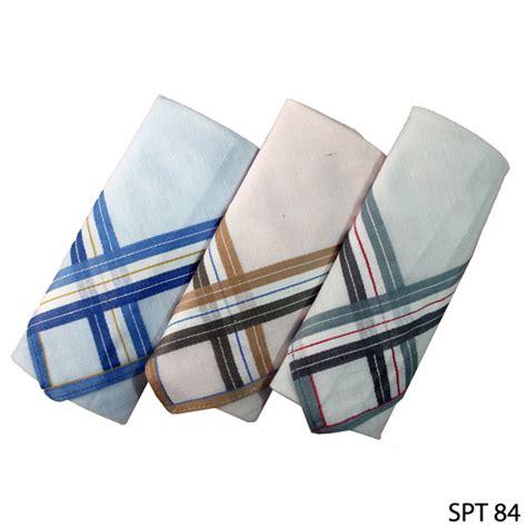 sapu tangan pria isi 3pcs katun multi color spt 84 gudang fashion