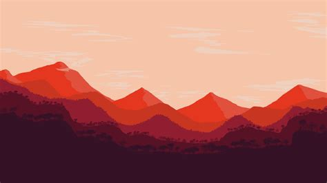 landscape abstract red mountains photoshop hd
