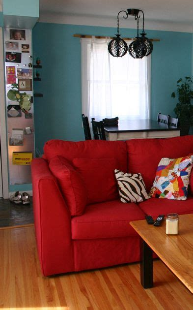 ideas  red couch rooms  pinterest red