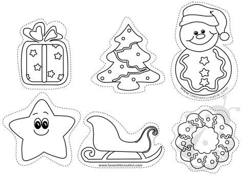 figure da colorare figure natalizie da ritagliare per addobbi lavoretti