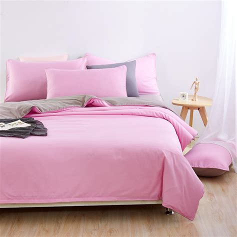 gray and pink comforter set bonenjoy new modern bed linen family pink and grey bedding