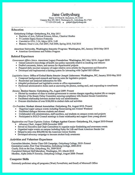 Creating Resume Templates by The College Resume Template To Get A