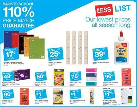 Will Staples Take Office Depot Coupons by Staples School Supplies Deals For 7 20
