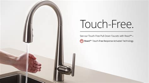 pfister react touch  faucet pfister faucets kitchen