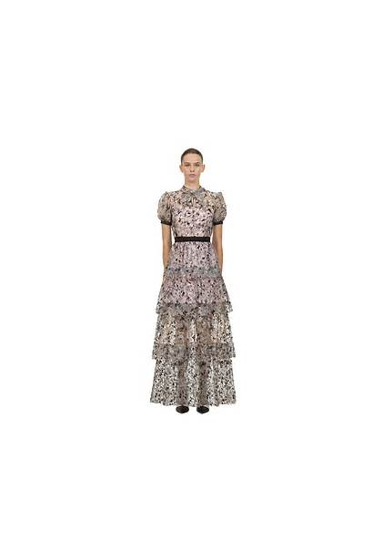 Short Maxi Self Sleeve Portrait Hits Tiered