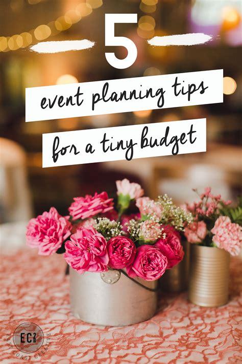 tips  event planning   budget diy brides money