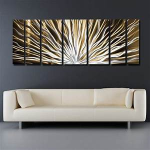 quotvibrationquot 66quotx24quot large earthtone brown modern With modern wall art