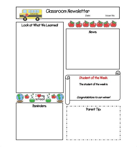 free classroom newsletter templates 8 free newsletter templates free word pdf documents free premium templates