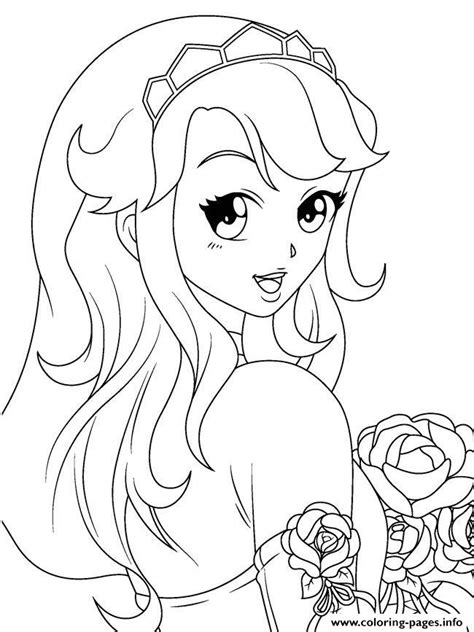 anime girl  montzalee wittmann coloring pages printable