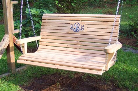 wooden porch swing  shipping