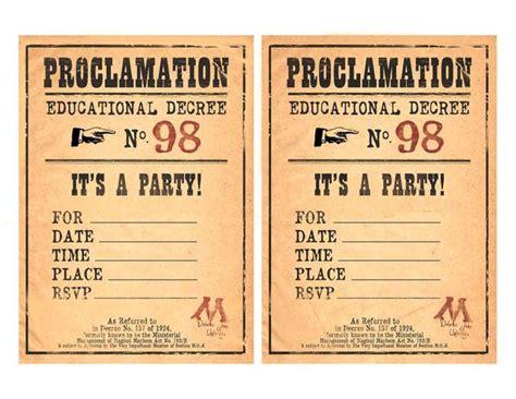 harry potter invitation printable zurchers