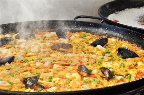 cuisine paella paella food stock photo colourbox