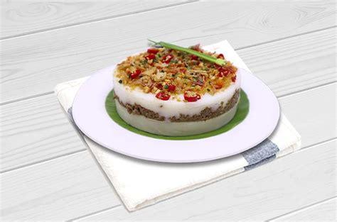 Bagaimana cara membuat kue pelita? Resep Talam Ubi Tepung Beras Beef Ebi