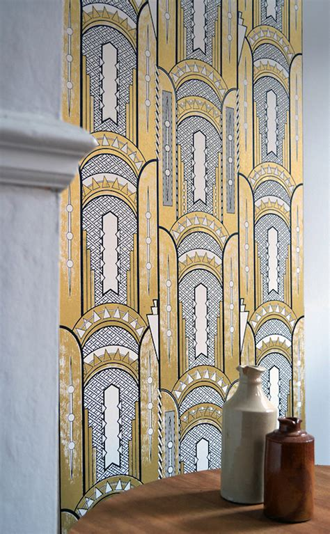 art deco inspiration onyx skyline wallpaper  daniel