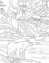 Coloring Mountains Colorear Park Smoky National Mountain Sunset Osos Printable Landscape Oso Bear Dibujos Supercoloring Czarny Nature Narodowy Negro Dibujo sketch template