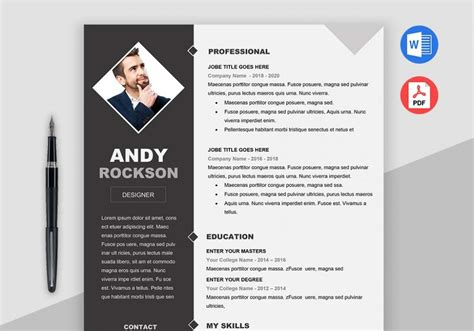 Free Resume Maker And Print by Professional Clean And Simple Fashion Resume Template