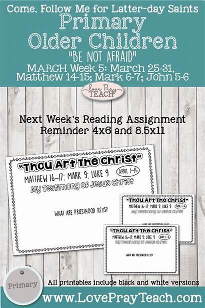 Primary Matthew Follow John Mark March Testament
