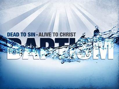 Baptism Water Service Word Christian Meaning Sunday