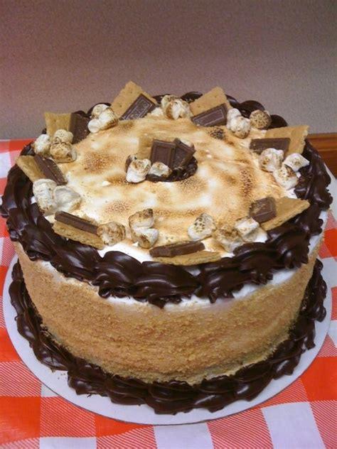 s more cake s mores cake cake ideas