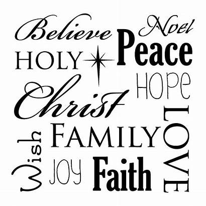 Christmas Wall Decal Quotes Subway Spirit Words