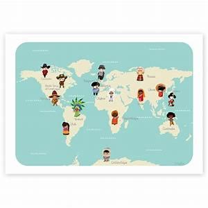 Affiche Carte Du Monde : affiche ducative le monde kanzilue la boutique part 1 ~ Dailycaller-alerts.com Idées de Décoration