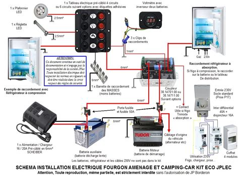 kit installation electrique fourgon amenage  camping car