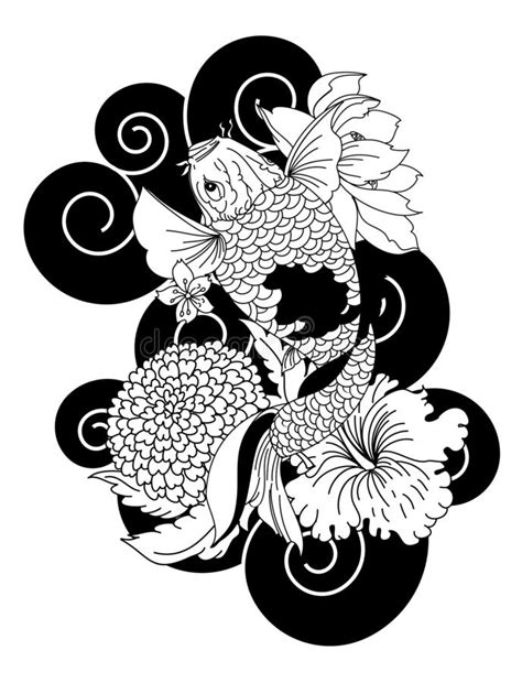 Hand Drawn Dragon Tattoo ,coloring Book Japanese Style Stock Illustration - Illustration of